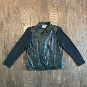 Linea by Louis Dell'Olio   Green Leather Jacket